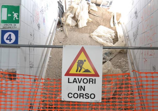I lavori nella stazione FS di Busto Arsizio
