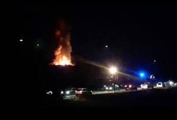 Incendio in una villetta a Vedano