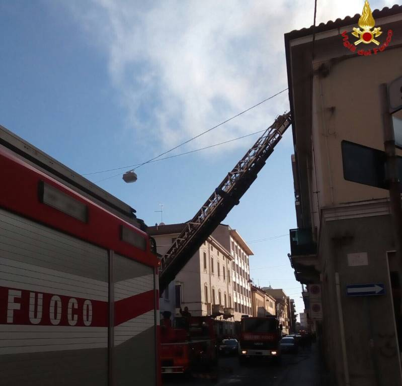 Incendio via san Giuseppe
