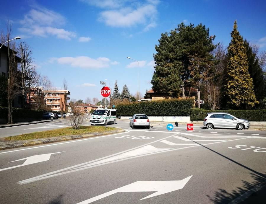 Incidente Ronchi Largo Prinetti Castelletti Gallarate