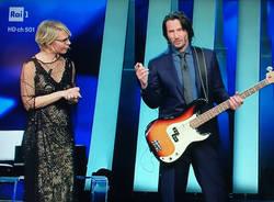 Keanu Reeves bassista a Sanremo