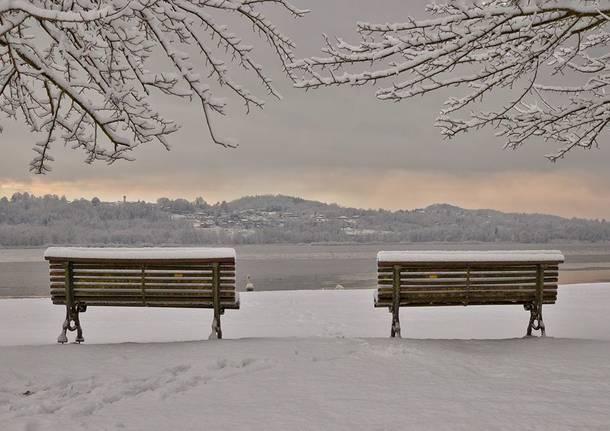 Neve alla Schiranna (foto di Federico Croci)