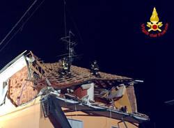 Oggiona Santo Stefano: esplosione, le foto dei Vigili del fuoco