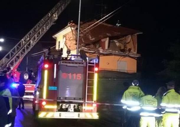 Oggiona Santo Stefano - Esplosione via Padova