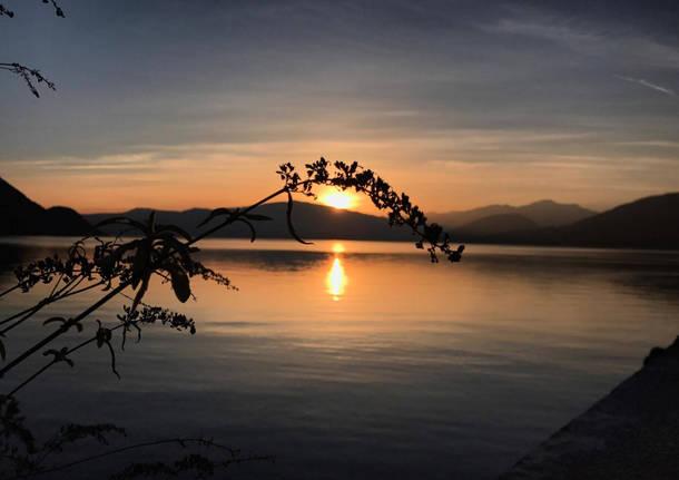 tramonto fornaci di Caldè sera lago maggiore