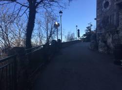 Al sacro Monte via del Ceppo ancora chiusa per frana