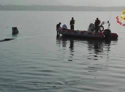 Ammaraggio nel lago, il rientro dei mezzi di soccorso