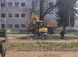 I lavori nel parco Ugo Foscolo