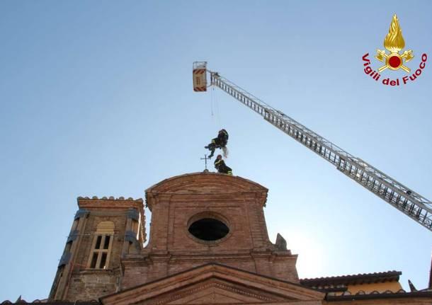 I lavori alla chiesa di Camerino