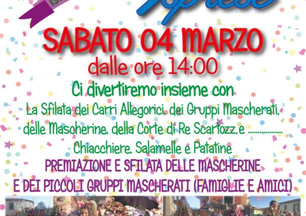 Rimandato a Domenica 12 Marzo il Carnevale Isprese