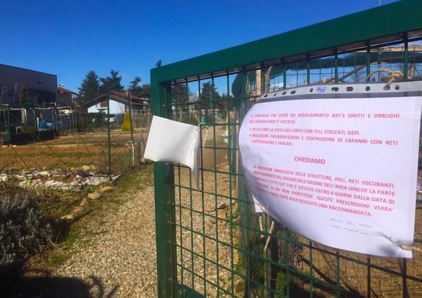 Ufficio Verde Gallarate : Il comune vuole togliere pali e reti antigrandine agli orti urbani