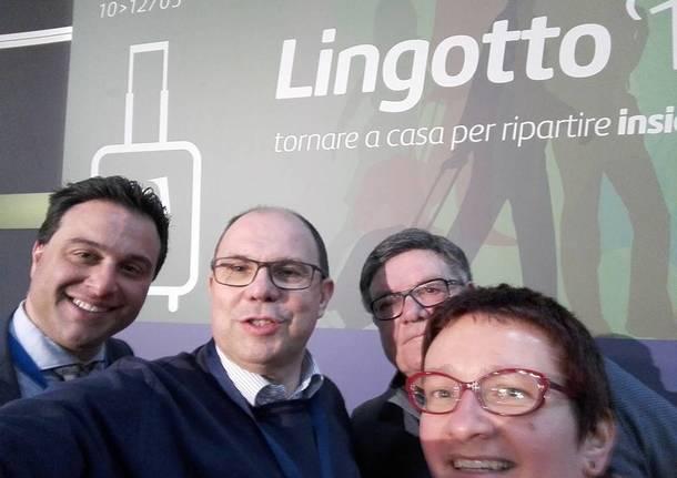 I selfie del Pd al Lingotto