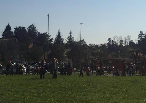 L'inaugurazione del parco giochi di Armino