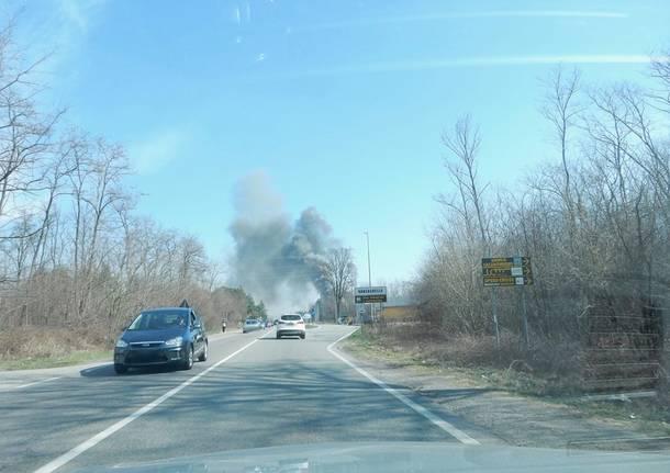 Incendio a Vanzaghello