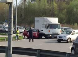 Incidente a Buguggiate, traffico