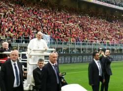 San Siro, il Papa incontra i ragazzi