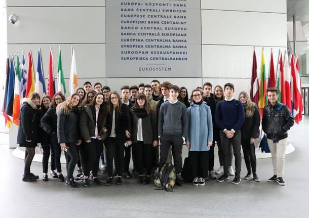 studenti in gita a francoforte