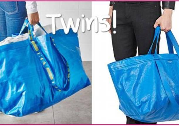 d73615ed73 Non c'è altro modo di definire la trovata dello stilista Balenciaga: la  borsa dell'Ikea dev'essergli piaciuta davvero tanto e deve averla trovata  davvero ...