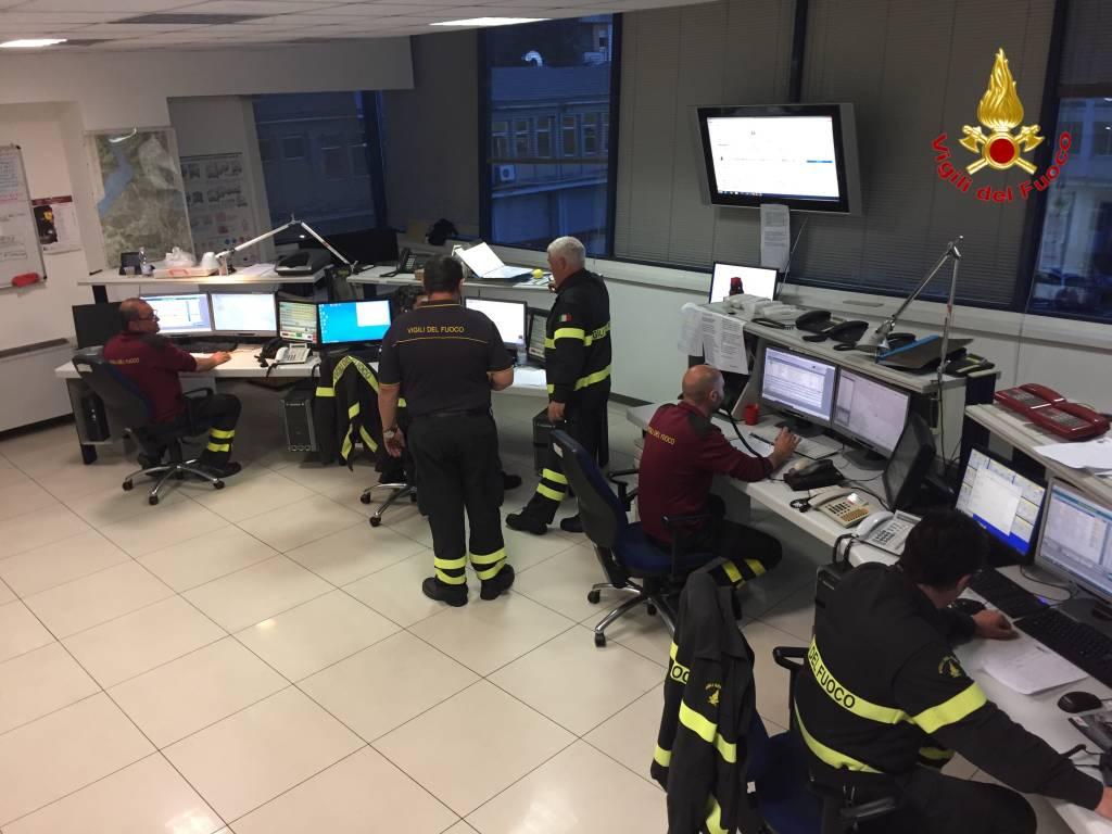 Gli interventi dei vigili del fuoco per i danni del vento