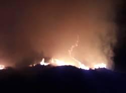 L\'incendio al monte Paglione