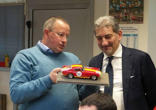 """Raffaele Cattaneo in visita la Bbr models, l\'imprenditore: \""""Serve eliminare la burocrazia"""