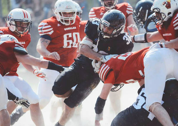 football americano gorillas varese