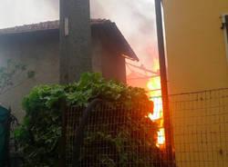 Incendio a Crugnola di Mornago