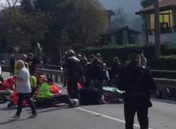 Incidente a Cuveglio auto moto