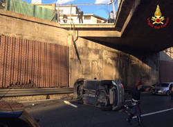 incidente sul  ponte di olgiate olona