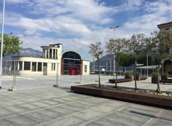 La nuova piazza imbarcadero a Luino