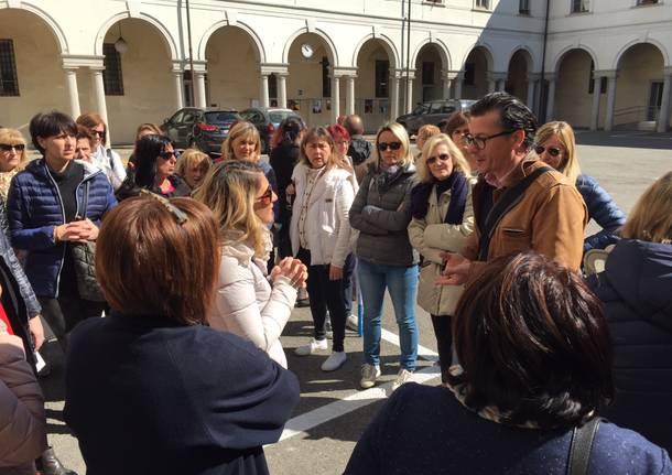 protesta educatrici asili nido busto arsizio