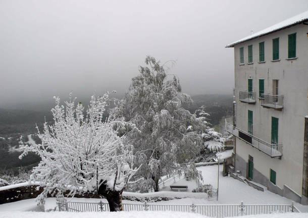 La neve di aprile al Sacro Monte