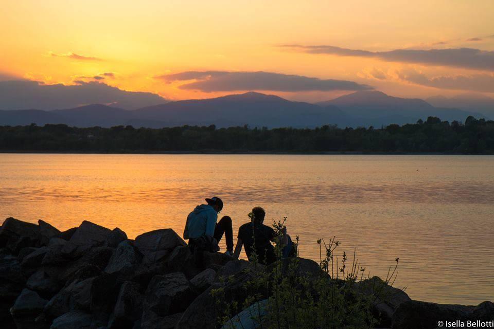 Tramonto sul lago a Cazzago