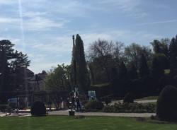 Una piramide ai giardini estensi