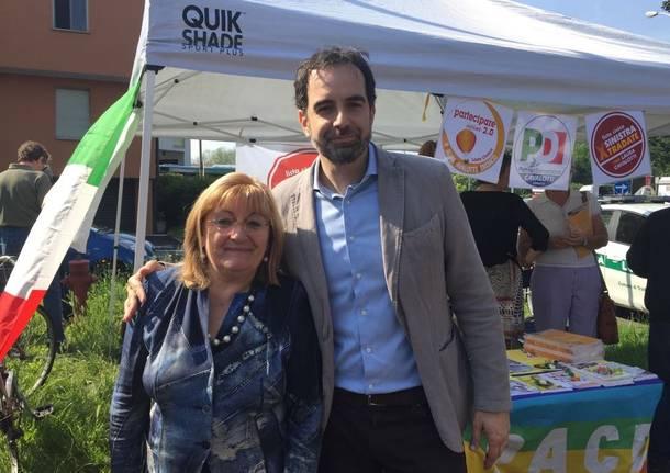 Alfieri al mercato per il sindaco Cavalotti