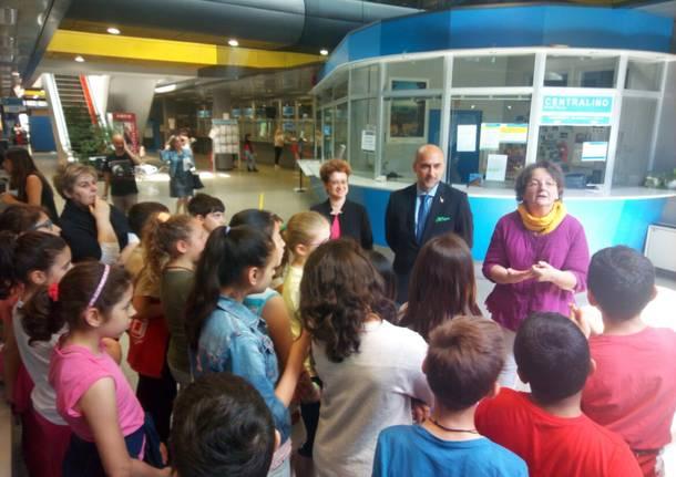 Tour con sindaco e presidnete del consiglio comunale per la 5A