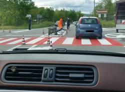 Il semaforo all\'incrocio pericoloso