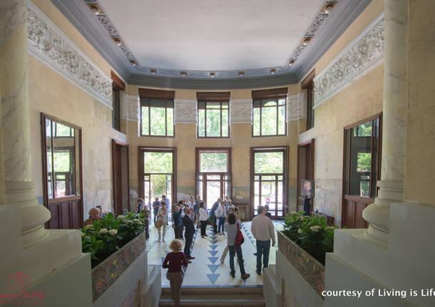 Vernissage della mostra sul Liberty al Grand Hotel Campo dei Fiori