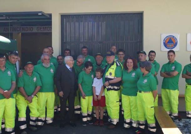Gemonio, inaugurata la nuova sede della Protezione Civile