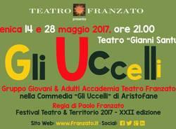 """In scena la commedia \""""Gli uccelli\"""" di Aristofane con il Gruppo Giovani & Adulti dell\'Accademia Teatro Franzato"""