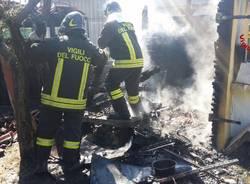 incendio capannone cittiglio provinciale