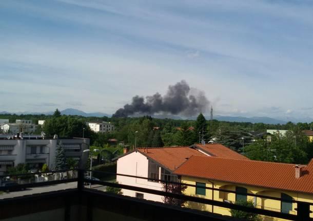 incendio discarica Gorla Maggiore