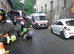 Incidente ad Arsago Seprio, si ribalta con l'auto