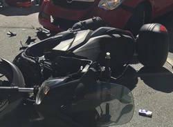 Incidente auto/moto a Caravate
