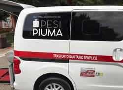 Pesi piumma, missione compiuta: un veicolo per la croce rossa