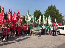 Protesta dei lavoratori dei servizi