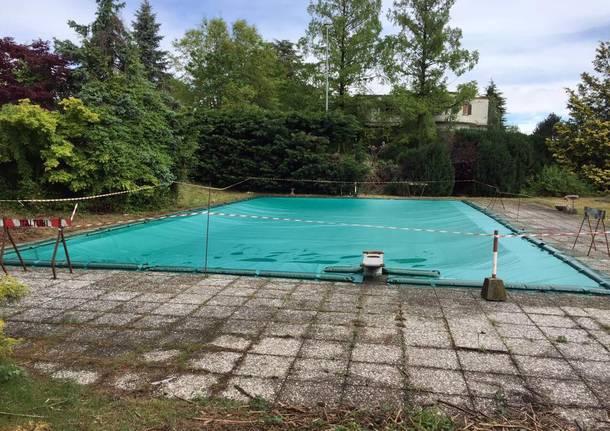 Pulizia alla piscina della Rogorella di Bodio