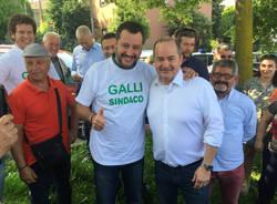 Salvini al mercato a Tradate