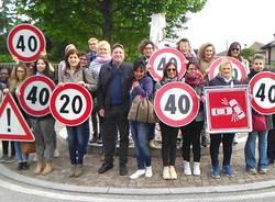 sicurezza stradale flash mob mamme olgiate olona