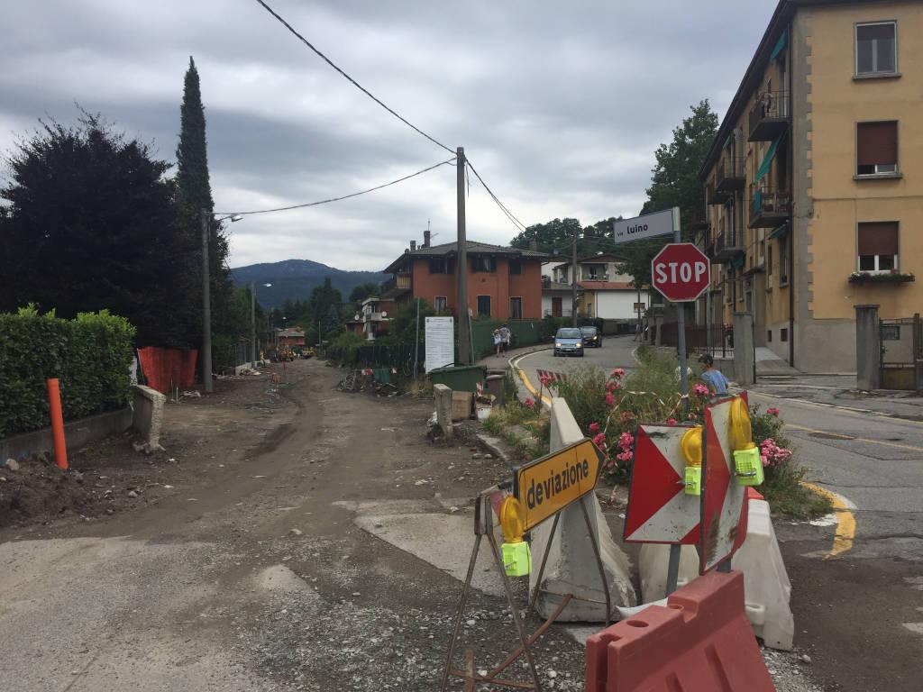 Cantiere Via Luino - Laveno Mombello